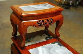 two tiered side table hand carved hardwood tier with marble inset for wooden two tiered side table