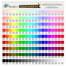 Photoshop Color Chart Color Guide Swatch 171 Colors Hex Codes Spoonflower