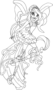 Coloriage Bloom Harmonix Imprimer
