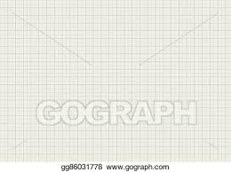 Eps Illustration Gray Color Graph Paper On A4 Sheet Size