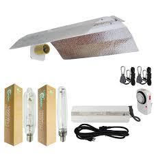 1000 Watt Grow Light Bulb Hydro Crunch 1000 Watt Hps Mh Grow Light System With 19 In Basic Wing Reflector
