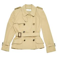 dior women clothings cotton trench coat beige 3842474 aqzonmz