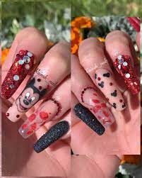 Disney acrylic nails | Mickey nails, Disneyland nails, Mickey mouse nails