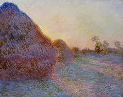 french painting haystacks by claude monet