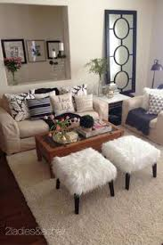 apartment living room design ideas. The Faux Fur Stools Add Fun To Family Room! So Does This Fabulous White And Gold Cowhide Tray Also From HomeGoods! Sponsored By HomeGoods Apartment Living Room Design Ideas D