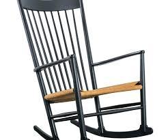 black rocking chair black wood