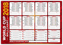 World Cup Wallchart Russia 2018 Neat Stylish Wall Chart To Track The Football Progress Red