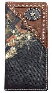 mens western checkbook style wallets