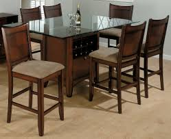 top design furniture. Fancy Wooden Dining Table Design With Square Clear Glass Top And Walnut Wood Base Together Wine Rack Plus Bottle As Well Furniture