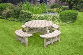 anchor fast devon round picnic bench