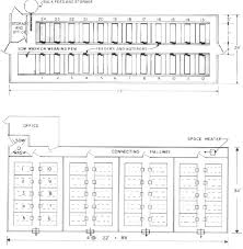 figure 6 top floor plan of two row slotted floor farrowing house