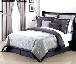 purple grey comforter