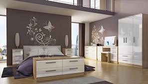 knightsbridge bardolino oak cream gloss finish bedroom furniture