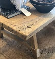 timber detail reclaimed elm coffee