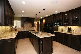 kitchen classy dark kitchen design with white ceiling lighting and u shape dark wood kitchen