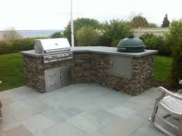 Outdoor Kitchen And Grills Big Green Egg Built Into Outdoor Kitchen Outofhome