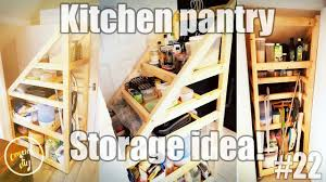 There was a mains gas pipe around the interior of the pantry to be avoided, and control panels at the top of the cupboard to be accessed regularly. Kitchen Pantry Storage Solution Under The Stairs Storage Idea Youtube