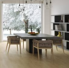 temahome dusk square dining table in concrete and matt black thumbnail