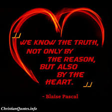 Christian Quotes About Truth Best Of Blaise Pascal Quote Know The Truth ChristianQuotes