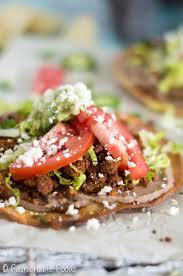vegetarian cauliflower taco meat tostadas