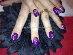 Easy Nail Art Designs 3 DIY Elegant Silver Violet Purple. 65 Cool ...