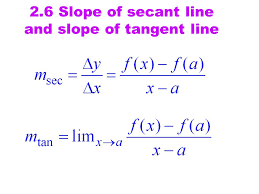 44 2 6 slope of secant line and slope of tangent line
