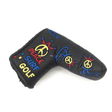 2019 2019 premium quality golf pu leather putter cover custom design peace golf headcover for blade putter head from thegolfmarket 10 06 dhgate com