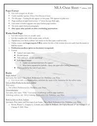 Mla Cheat Sheet 7th Edition 2009