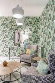 at this point they thought in our wallpaper designed by andrea zarraluqui banano became a key part to recreate that oasis they chose green as main color