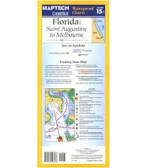Waterproof Charts Florida Maptech St Augustine To Melbourne Waterproof Chart 2nd Edition 2011