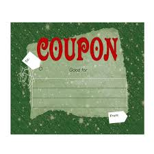 Make Your Own Customizable Coupon Book: Free Printables Blank Printable Christmas Coupons. Christmas Coupon Printable