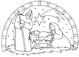Free Nativity Scene Coloring Pages Draw Coloring Book