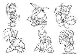 Small Picture sonic and friends coloring Archives coloring page