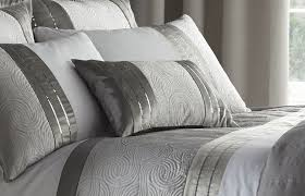 Silver Grey Luxury Duvet Quilt Cover Bedding Bed Set OR Curtains ... & Silver-Grey-Luxury-Duvet-Quilt-Cover-Bedding-Bed- Adamdwight.com