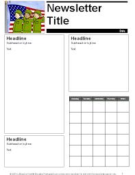 Preschool Newsletter Template Adorable May Parent Newsletter Template Education World