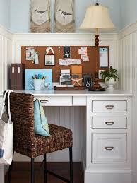 Decorating small home office Desk Small But Efficient Better Homes And Gardens Smallspace Home Offices Storage Decor