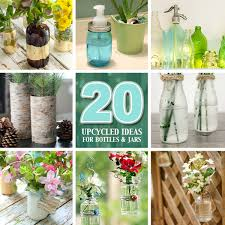 Glass Jar Decorating Ideas 100 Upcycled Ideas for Recycled Glass Jars and Bottles Pretty 82