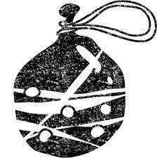 水風船イラスト白黒無料素材