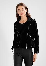 sfsanella jacket leather jacket black