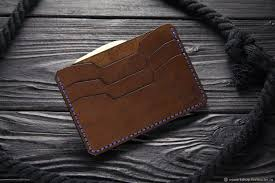 wallets business card holders handmade livemaster handmade compact men s leather wallet