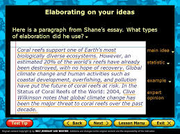 drafting writing the body of your paper introduction creating  elaborating on your ideas here is a paragraph from shane s essay