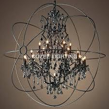 crystal globe chandelier vintage smoky crystal chandelier hanging lighting orb globe matt black chandeliers light for crystal globe chandelier