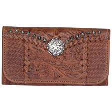 women s trifold leather wallet double tap to zoom