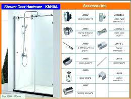 replacement sliding shower frameless shower door parts good shower doors