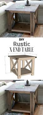 Diy rustic furniture Foyer Table End Marks The Spot Diy Table Homebnc 39 Best Diy Rustic Home Decor Ideas And Designs For 2019