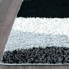 black fluffy grey rug extra large carpet pom white pompoms home decor