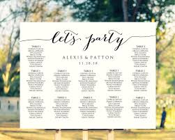 Lets Party Wedding Seating Chart Templates Two Layouts