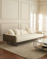 Off white sofa Cream Quick Look Preston Modern Tufted Sofa 99 Tacconlineorg Off White Sofa Neiman Marcus