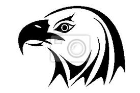 Nálepka Orel Bělohlavý Hlava Tribal Tattoo