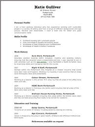 example of good cv layout good cv template uk example cool resume impression fenland info